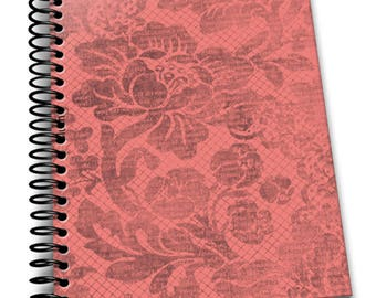 Blush   6×9 Coil Bound   Soft Cover Notebook   Lined Journal Pages / Notebook / Diary