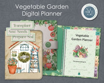 Digital Planner   Vegetable Garden Planner   Goodnotes   Notability   Stickers   8 Digital Covers