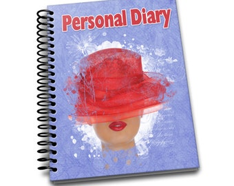 Personal Diary/ 150 Lined Journal Pages / Notebook / Diary / 8 x10 / Red Hat