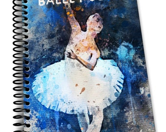 Ballet Diary: 110 Lined Journal Pages / Notebook / Diary / 8x10/ Ballerina