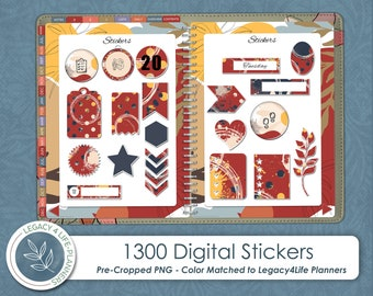 1300 Digital Stickers   Pre-Cropped PNG   Matches Legacy4Life Signature Planner   Goodnotes   OneNote