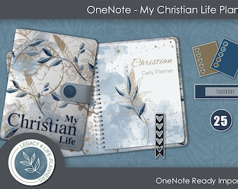 My Christian Life   OneNote Digital Planner   Sermons   Undated Weekly and Daily Planner