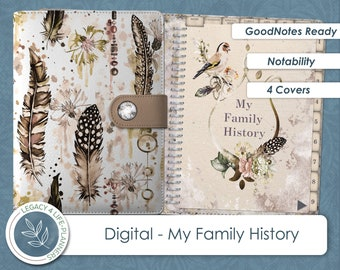 My Family History   GoodNotes Ready   Digital Planner   Notability