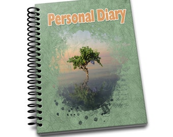 Personal Diary/ 150 Lined Journal Pages / Notebook / Diary / 8 x10 / Lone Tree