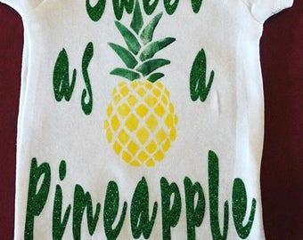 sweet as a pineapple - onsie
