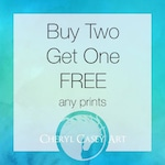Buy Two Get One Free, Any Art Prints, Watercolor Art Prints from Paintings by Cheryl Casey