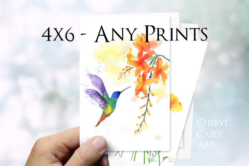 4x6 Sets Your Choice Postcard-size Art Prints by Cheryl image 0