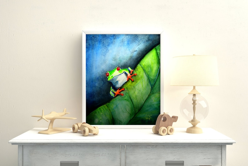 Tree Frog Art Print from Original Painting by Cheryl Casey image 0
