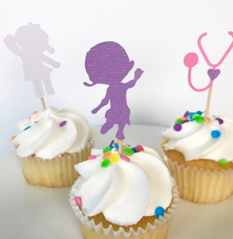 Doc Mcstuffins Cupcake Toppers Birthday Party Decorations Etsy