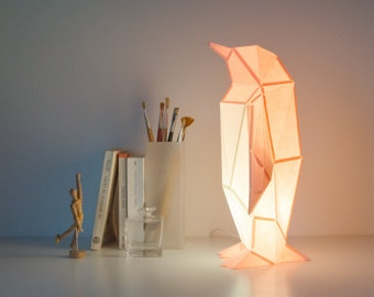 Small Penguin - DIY Paperlamp ( pre-cut papercraft kit )