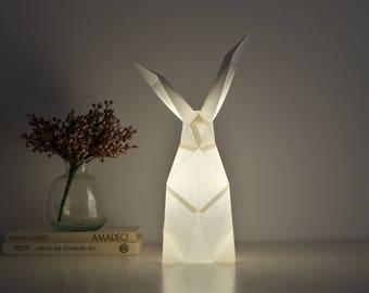 Rabbit - DIY Paperlamp ( pre-cut papercraft kit, DIY paper lamp )