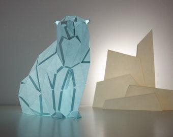 Polar Bear - DIY Paperlamp ( pre-cut papercraft kit )