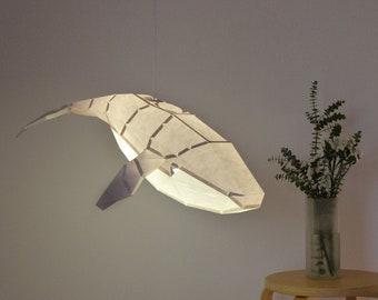 Humpback Whale - DIY Pendant Paperlamp ( pre-cut papercraft kit )