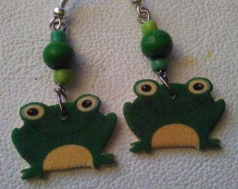 Frog Earrings or necklace