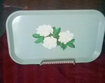Green Flower Snack Tray