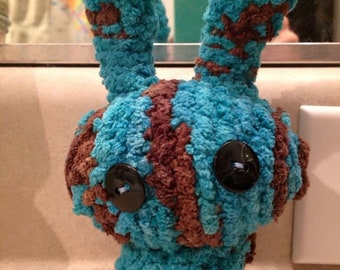 Silly little crocheted bunny