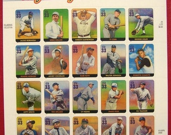 Us Postage Stamps 1 pane Scott # 3408 Legends of Baseball MNH