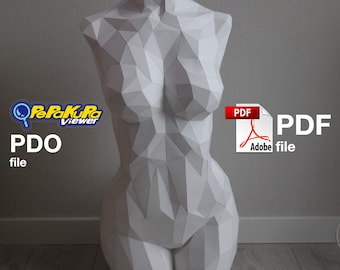 Venus Sculpture DIY Model low polygon .pdo .pdf .svg