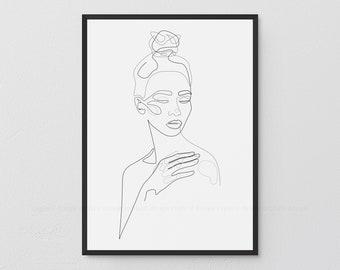 Sleek Naked Woman/'s Body Art B/&w Canvas Picture Wall Decoration Art Print