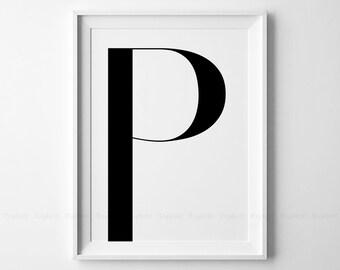 Lettre Majuscule Imprimable U Gras Géométrique Initial Etsy