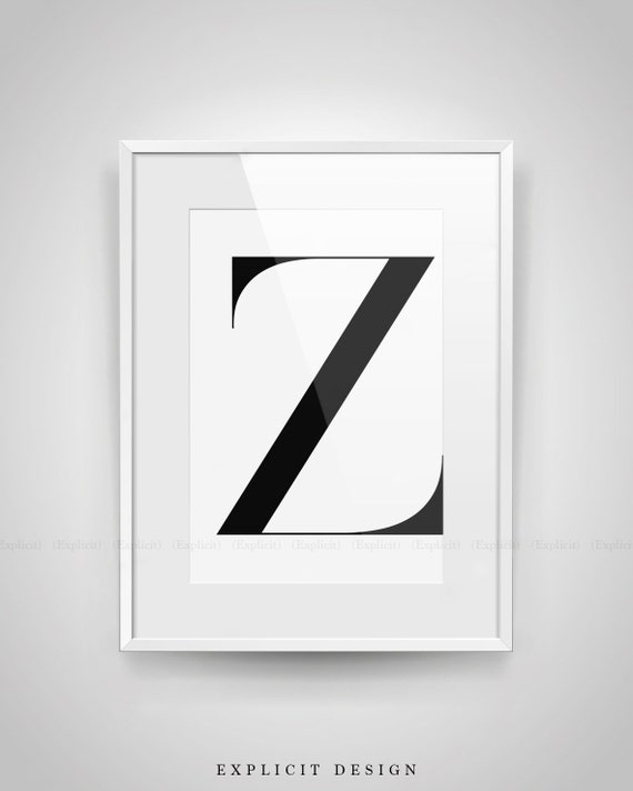 photograph regarding Printable Z Tables identify Significant Z Letter Printable, Monochrome Poster, Black and White Initials Print, Basic Desk Decor, Electronic Down load, Scandinavian Wall Indicator