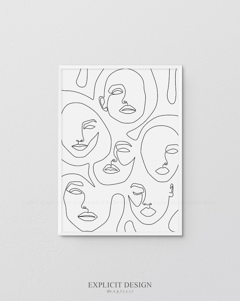 photo regarding Printable Faces referred to as Printable Summary Faces in just Traces, A single Line Art Print, Design Poster, Minimalist Female Drawing, Innovative Decor, Female Deal with Sketch Artwork.