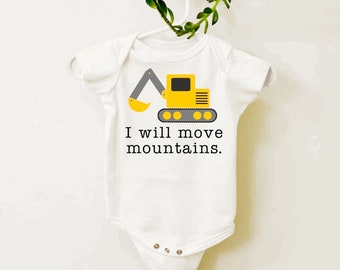 Construction Baby Shower Gift Digger Baby Bodysuit Construction Baby Clothes Excavator Baby Shirt Wombat Baby Clothes