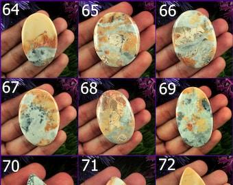 Jasper Suppliers Size 30x22x5 MM Jewellery Making Smooth Polished Loose Semi Precious Pendant Stone 23572 Maligano Jasper Cabochon