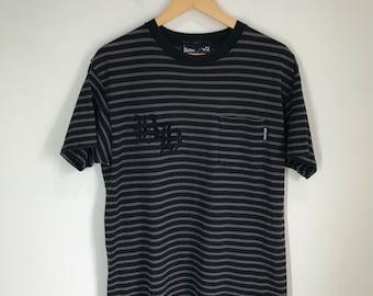 bc932d41e2c0 Rare Vintage BOUNTY HUNTER Made In Japan Striped Single Pocket Shirt