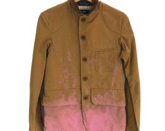 e0b65fe6dc21 Rare Vintage NIGEL CABOURN Two Tone Splash Duck Cotton Chore Jacket