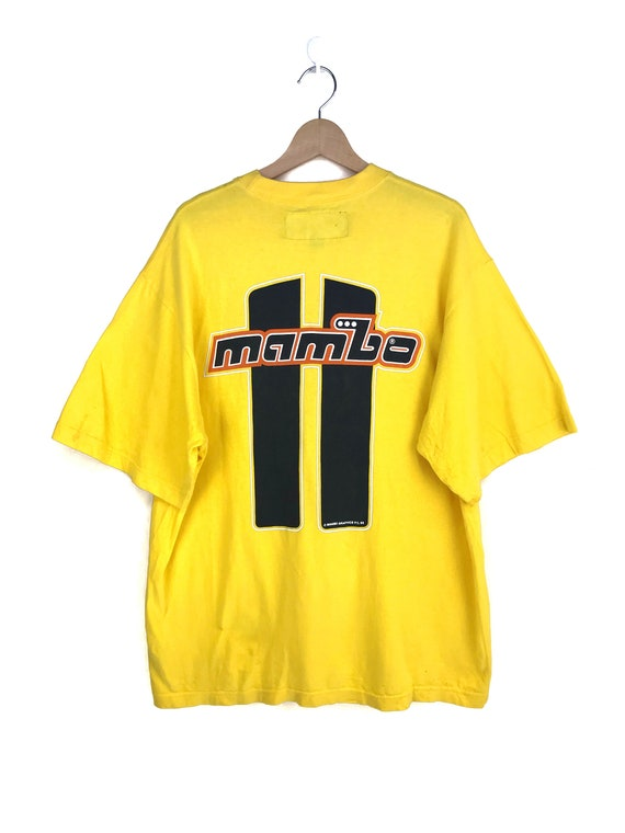 Vintage 90s MAMBO Australia Yellow Shirt / 1996 Ma