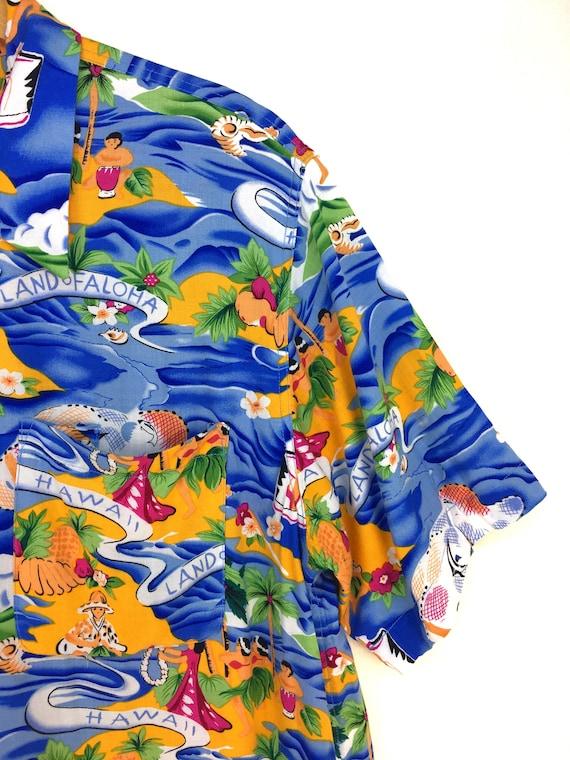 Vintage Land Of Aloha Hawaiian Shirt / Aloha Wear… - image 3