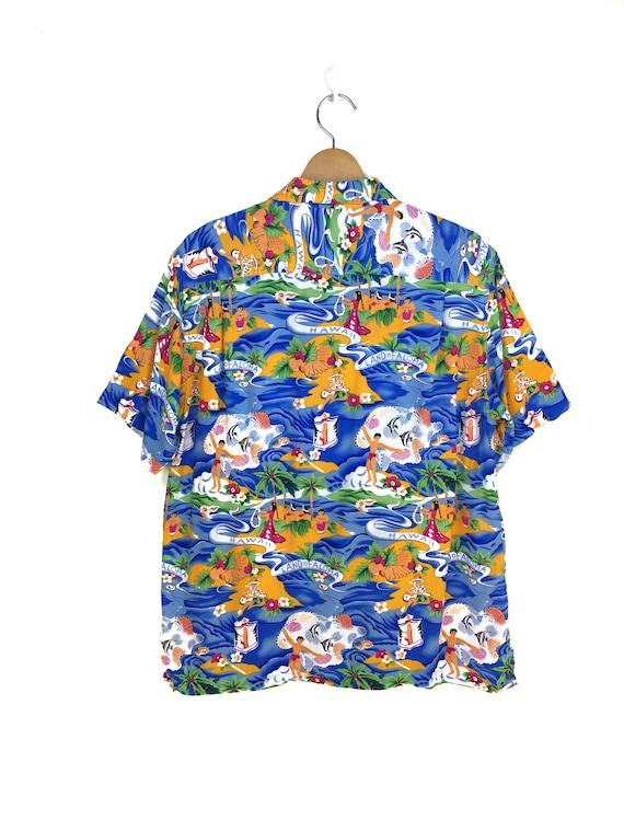 Vintage Land Of Aloha Hawaiian Shirt / Aloha Wear… - image 7