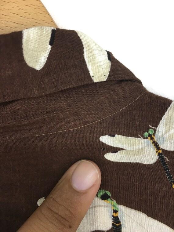 Vintage KARL HELMUT Dragonfly Rayon Hawaiian Shir… - image 9