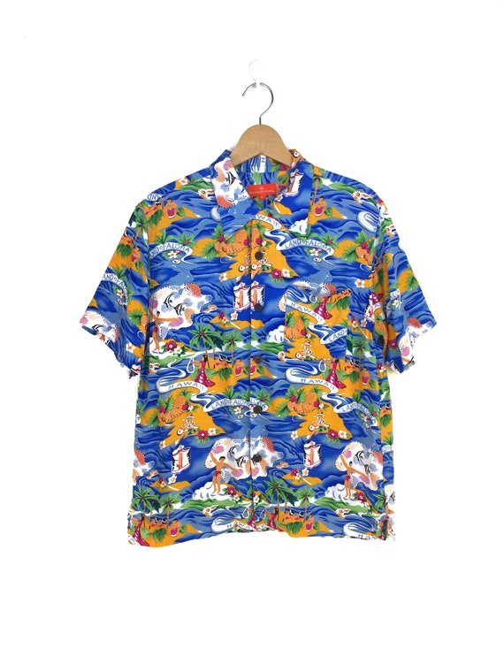 Vintage Land Of Aloha Hawaiian Shirt / Aloha Wear