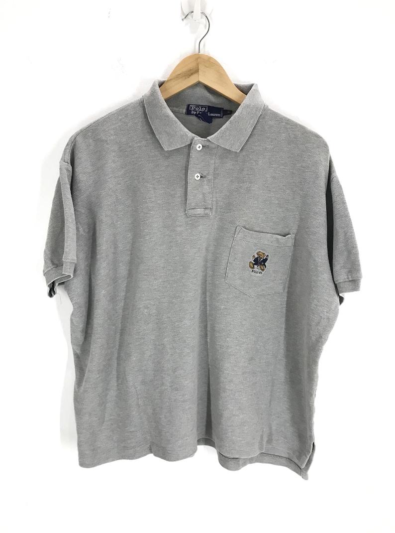 10c1ad471 Vintage Polo Bear 98 Ralph Lauren Cropped Shirt Polo Stadium | Etsy