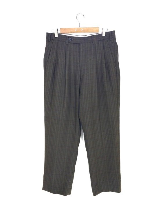 Vintage Classic BURBERRYS Checkered Baggy Trouser