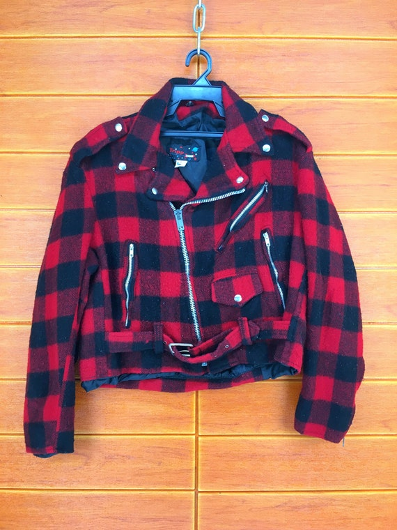 Vintage 80s TRIPP N.Y.C Usa Checkered Double Colla