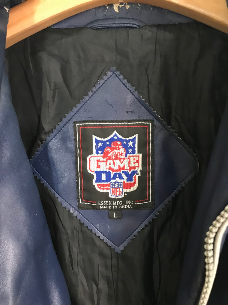 cheap for discount 7e084 3909a Rare Vintage DALLAS COWBOYS NFL Distressed Leather Jacket