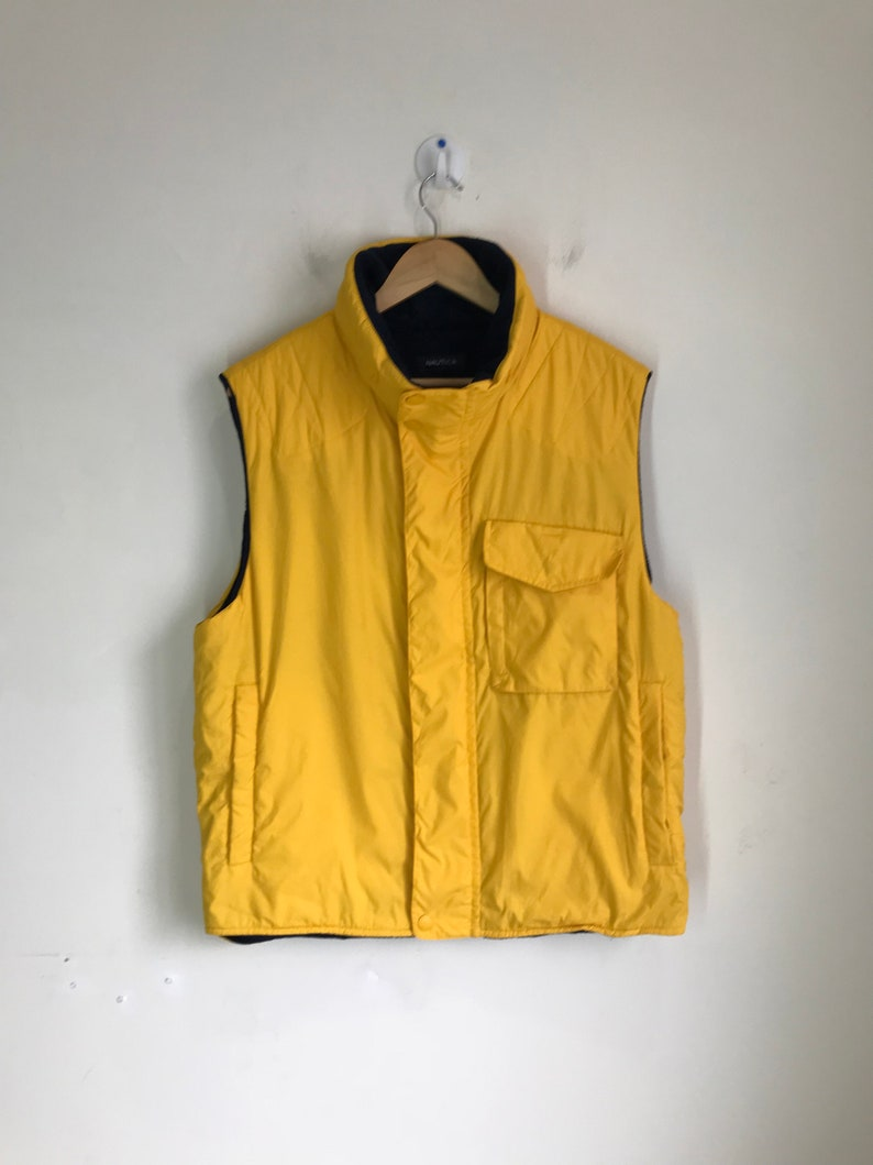 Nautica Jacket Rare Vintage Vest Hong Made In Kong kXPOZiu