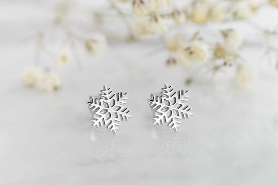 Flocon de neige or boucles doreilles boucles dorei...