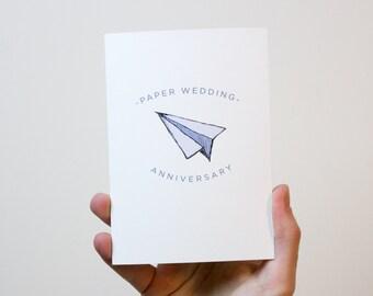 Paper Wedding Anniversary Card | 1 Year Wedding Anniversary Card | 1st Wedding Anniversary Card