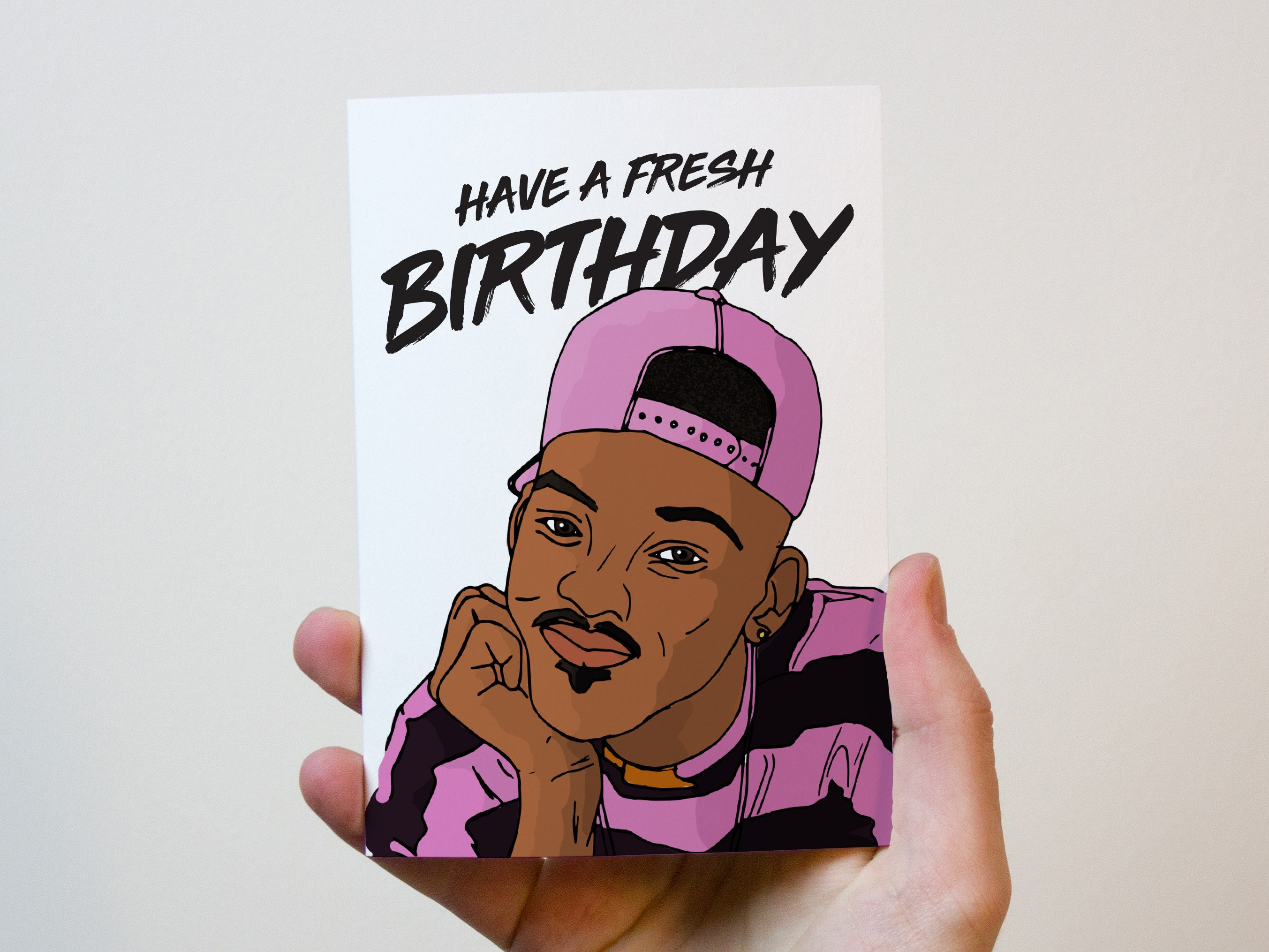 Fresh Prince Birthday Card Have A Fresh Birthday Funny Etsy