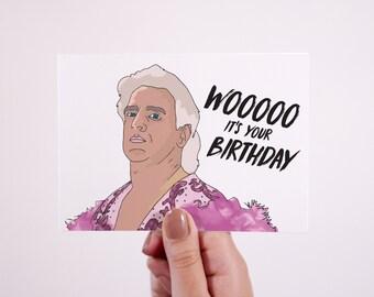 Ric Flair Card | Birthday Card | Woooooo