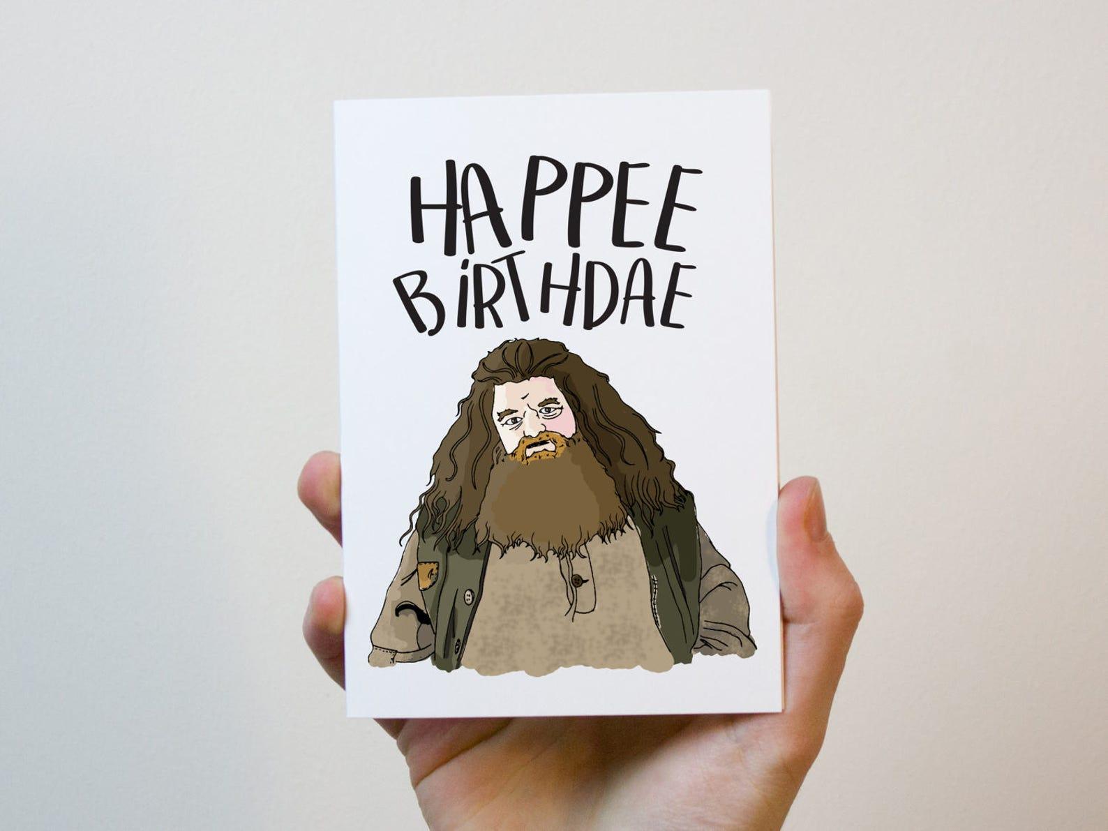Надписью днем, открытка на день рождения гарри поттер