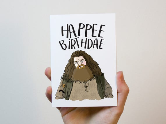Voorkeur Hagrid Birthday Card Harry Potter Card Birthday Card | Etsy &PR99