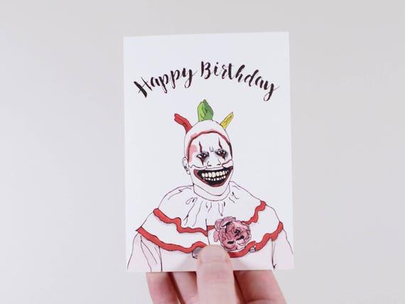 100% originale Garanzia di soddisfazione al 100% il migliore Scheda di compleanno di American Horror Story | Tortuosa la scheda del  pagliaccio