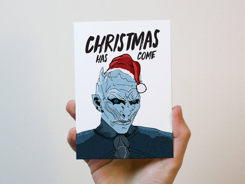 Game of Thrones Christmas Card  White Walker Card  Christmas image 0
