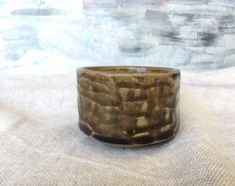 Ceramic Cup, Sake choko 120ml - Green Brown