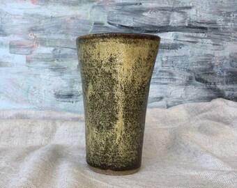 Ceramic Cup, Beer mug , Tumbler 420ml - Golden Green